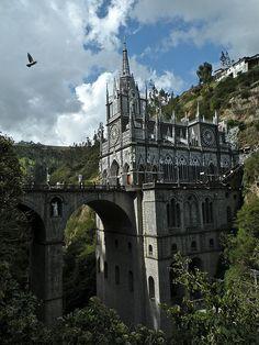 ARCHITECTURE – another great example of beautiful design. Santuario de Las Lajas in Nariño, Colombia