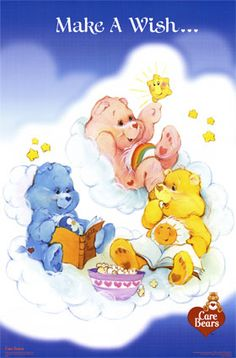 Care Bears: Make a Wish. with Cheer, Bedtime Funshine Bear Bear Pictures, Cute Pictures, Care Bear Tattoos, Care Bears Vintage, Funshine Bear, Care Bear Party, Bear Theme, Cartoon Posters, Rainbow Brite