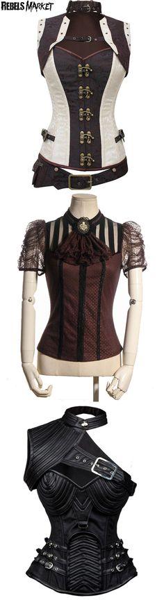 e73c8a0be28 Shop steampunk corsets at RebelsMarket. Steampunk Dress