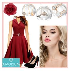 """""""Amorium/9"""" by amira-1-1 ❤ liked on Polyvore featuring Amorium, Accessorize, women's clothing, women, female, woman, misses and juniors"""