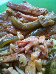 Egy kicsi bors - és a családi tűzhely: Visegrádi pecsenye Bors, Hungarian Recipes, Dishes, Chicken, Meat, Tablewares, Flatware, Tableware, Cutlery