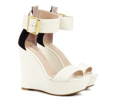 Sole Society Black and White - Colorblock wedges - Tate