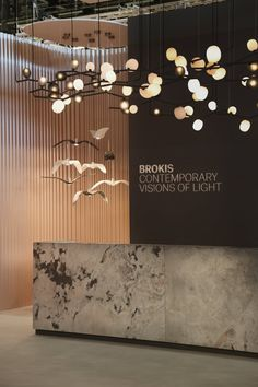 The original Brokis lighting collections, which are conceived by renowned Czech and foreign designers, will be on display in Hall 6 – Stand / 037 and will include not only the brand's iconic products but also new ones for Maison & Objet Photo: Studio VOKO Clinic Interior Design, Lobby Interior, Clinic Design, Showroom Design, Interior Design Photos, Restaurant Interior Design, Exhibit Design, Corporate Office Design, Office Reception Design