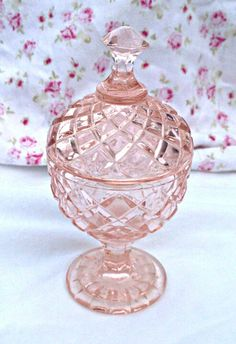 Pink Depression Glass 1940 by TheChicPinkShop on Etsy, $62.00