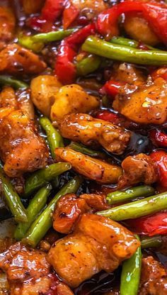Asian Cooking, Easy Cooking, Cooking Recipes, Stir Fry Recipes, Cooking Ideas, Best Stir Fry Recipe, Sweet Chili Chicken, Chicken Green Beans, Easy Orange Chicken