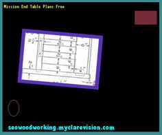 Mission End Table Plans Free 121725 - Woodworking Plans and Projects!