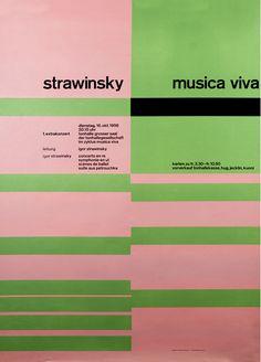 StrawinskyMusica Viva — Josef Müller-Brockmann (1956)