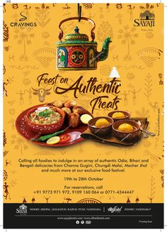 Bungh Food Festival at Sayaji Hotel food poster – Dinner Food Food Web Design, Food Graphic Design, Food Poster Design, Restaurant Poster, Restaurant Menu Design, Food Collage, Food Promotion, Healthy Cook Books, Hotel Food