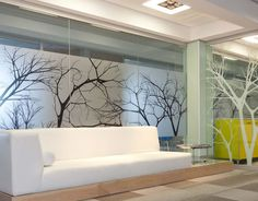 Custom print your Window Decals, Window Graphics or Vinyl Window Decals with GRAPHIOS. Corporate Office Design, Corporate Interiors, Office Interior Design, Office Interiors, Frosted Window Film, Window Signage, Glass Office, Glass Printing, Window Graphics