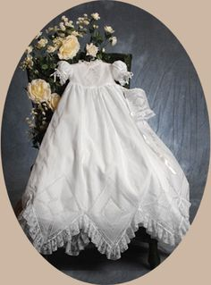 Christening Gown- Welcome to Lillian's Heirlooms:cotton christening gowns