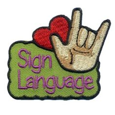 Sign Language Fun Patch. Your scout troop will love to learn sign language! Reward your girls with these fun patches! Available at MakingFriends®.com