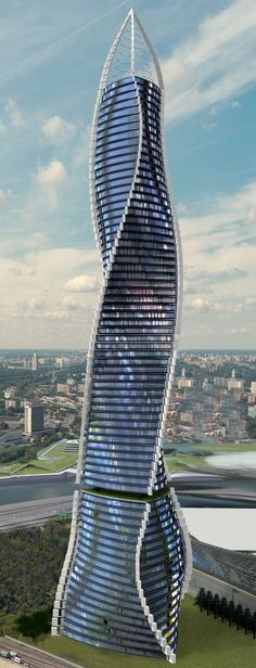 Architecture Dynamic Architecture Tower, Dubai, UAE designed by David Fisher of Dynamic Architecture, 80 floors, hieght 388m vision #Architecture