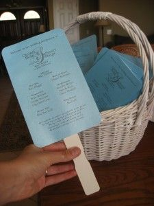 DIY Wedding program fan