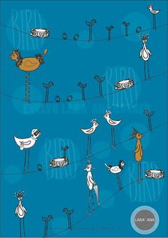 Evelyn Lara'Ana Rosner- Birds on a wire