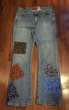 LEVI'S Nouveau Boot Cut Jean Up-cycled Whimsical by reconstruKteD