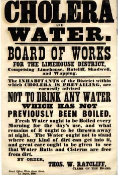 "First ""Boil Water"" notice, London, 1866."