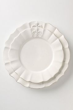 "My very own dreamy""White Dishes""... I never grow tired of these!    Fleur de Lys from Anthropologie"