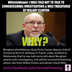 http://www.theblaze.com/stories/2013/05/08/benghazi-whistleblower-i-was-told-not-to-talk-to-members-of-congress-investigating-terror-attack/ Who can protect Hillary from prosecution from the FBI?
