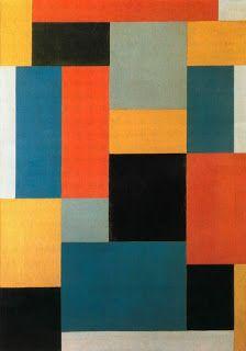 Composition by Theo van Doesburg (Dutch 1883-1931) (Mouvement De Stijl)