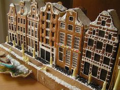 Christmas Amsterdam by Christmas Gingerbread House, Christmas Treats, Christmas Fun, Christmas Cookies, Gingerbread Houses, Christmas Tablescapes, Christmas Decorations, Fairy House Crafts, Sugar Cookie Cakes