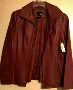 NWT Ladies Red/ Burgundy leather small Jacket