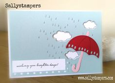 Umbrella's and Weather. Independent Stampin' Up!® Demonstrator UK.