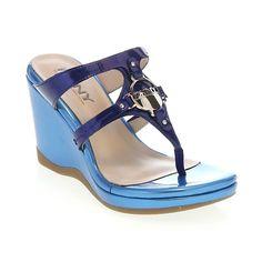 "DKNY ""Holly"" Slip-On Platform Wedge Thong Sandal"