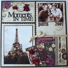 Gorgeous scrapbook layout by Fauve van Maanen of the Netherlands using Dove of the East Paris Vintage papers, charms, ribbons, Europe Journey chipboard stickers and more as seen on her blog! Description from pinterest.com. I searched for this on bing.com/images