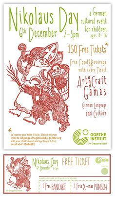 #flyerdesign by #annamarlena Cultural Events, German Language, Kid Names, Flyer Design, Anna, Writing, Day, Free, Brochure Design