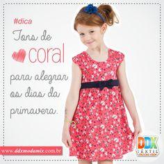 Use e abuse dos tons de Coral, e deixe a alegria das cores invadir o seu universo. acesse: www.ddxmodamix.com.br