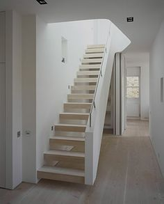 Charles Barclay Architects is a design-led practice based in South London specialising in high-end domestic new-build and refurbishment projects Small Staircase, Tiny House Stairs, Staircase Design, Staircase Ideas, Bathroom Under Stairs, Building Stairs, Entry Stairs, Small Loft, Floating Stairs
