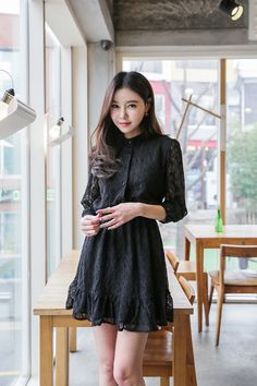 Laced ButtonUp Dress