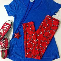 Red. White. And blue awesomeness!  Americana has arrived. #lularoe @lularoe #flatlay #lularoeamericana