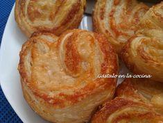 Gástalo en la cocina: PALMERITAS DE QUESO (PASO A PASO) Tapas, Pasta Filo, French Toast, Breakfast, Recipes, Food, Appetizers, Sweets, Deserts