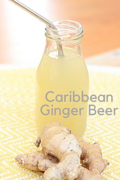 A recipe for homemade Caribbean ginger beer. A traditional non alcoholic drink that packs a spicy nutritional punch with lots of ginger. Typically served during the holidays but you can have it any time of year. Spicy Drinks, Non Alcoholic Drinks, Yummy Drinks, Healthy Drinks, Beverages, Cocktails, Healthy Nutrition, Healthy Eating, Caribbean Drinks