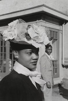 Beautiful Queen on Easter Sunday in Harlem, 1941