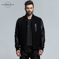 >> Click to Buy << ANDREW MARC 2016 New Arrival Autumn & Winter Genuine Leather Wool Blends Men's Jacket Coat Short Slim Outwear TM6AN001 #Affiliate