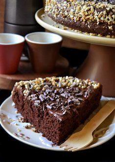 Dolci a go go: Torta delizia al cioccolato Nutella, Sweet Desserts, Sweet Recipes, Cake Cookies, Cupcake Cakes, Wine Recipes, Dessert Recipes, Torte Cake, Breakfast Dessert