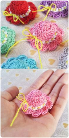 Crochet a Mini Sun Hat with free Pattern (Video)