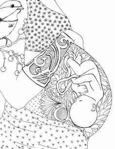 free pregnancy colouring page - optimized