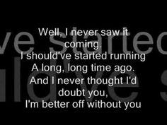 Chris Daughtry- Over You( With Lyrics) Daughtry Lyrics, Chris Daughtry, Music Lyrics, Music Songs, Best Breakup Songs, Life Timeline, Suspended Animation, How To Start Running, Long Time Ago