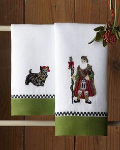 MacKenzie-Childs Santa & Scottie Guest Towels on shopstyle.com