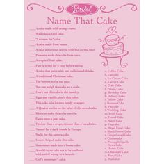 It's time for tons of fun with this bridal trivia game from Victoria Lynn. With 50 sheets, you can play one massive game with 50 people with answers on the back cover. The object is to match the descr