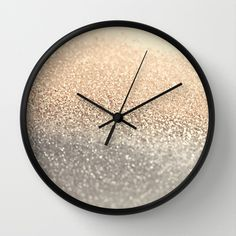 GATSBY GOLD Wall Clock by Monika Strigel - $30.00