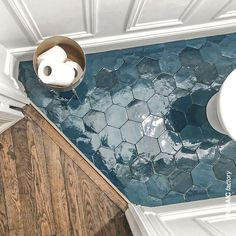 street flooring Bathroom floor with teal hexagon ZELLIGE tiles from Mosaic Factory. in colour Price is 139 per Visit our website to see all available shapes, sizes and colours of the zellige collection! Regram and bathroom remodel from Style At Home, Bathroom Inspiration, Bathroom Ideas, Zebra Bathroom, Mosaic Bathroom, Bathroom Flooring, Modern Bathroom, Small Bathroom, Master Bathroom