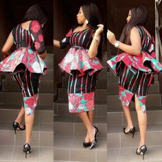 Classy picture collection of Beautiful Ankara Skirt And Blouse Styles These are the most beautiful ankara skirt and blouse trending at the moment. If you must rock anything ankara skirt and blouse styles and design. African Inspired Fashion, Latest African Fashion Dresses, African Print Dresses, African Dresses For Women, African Print Fashion, Africa Fashion, African Attire, African Wear, African Women