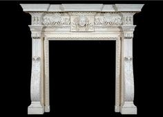 Hand carved marble fire surround. http://sjcritchley.com