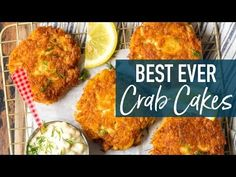 Crabcake Dinner Ideas : Best Crab Cakes Recipe (Baltimore Crab Cakes) - Crabcake Dinner Ideas Video Crabcake Dinner Ideas The BEST CRAB CAKE RECIPE is right here in front of you! I loooove fresh, crispy crab cakes, and these Crab Cakes Recipe Best, Crab Cake Recipes, Fish Recipes, Seafood Recipes, Cooking Recipes, Baltimore Crab Cakes, My Favorite Food, Favorite Recipes, Haddock Recipes