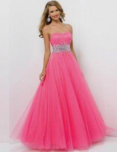 645b7ac40 ... De lujo 2015 de La Manera Caliente del A Line Barato Vestidos de Baile  Largo de Tulle de Los Plisados Con Cuentas La Cintura Sin Tirantes del Amor  Para ...