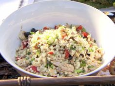Israeli Couscous and Tuna Salad recipe from Ina Garten via Food Network// try subbing salmon and quinoa